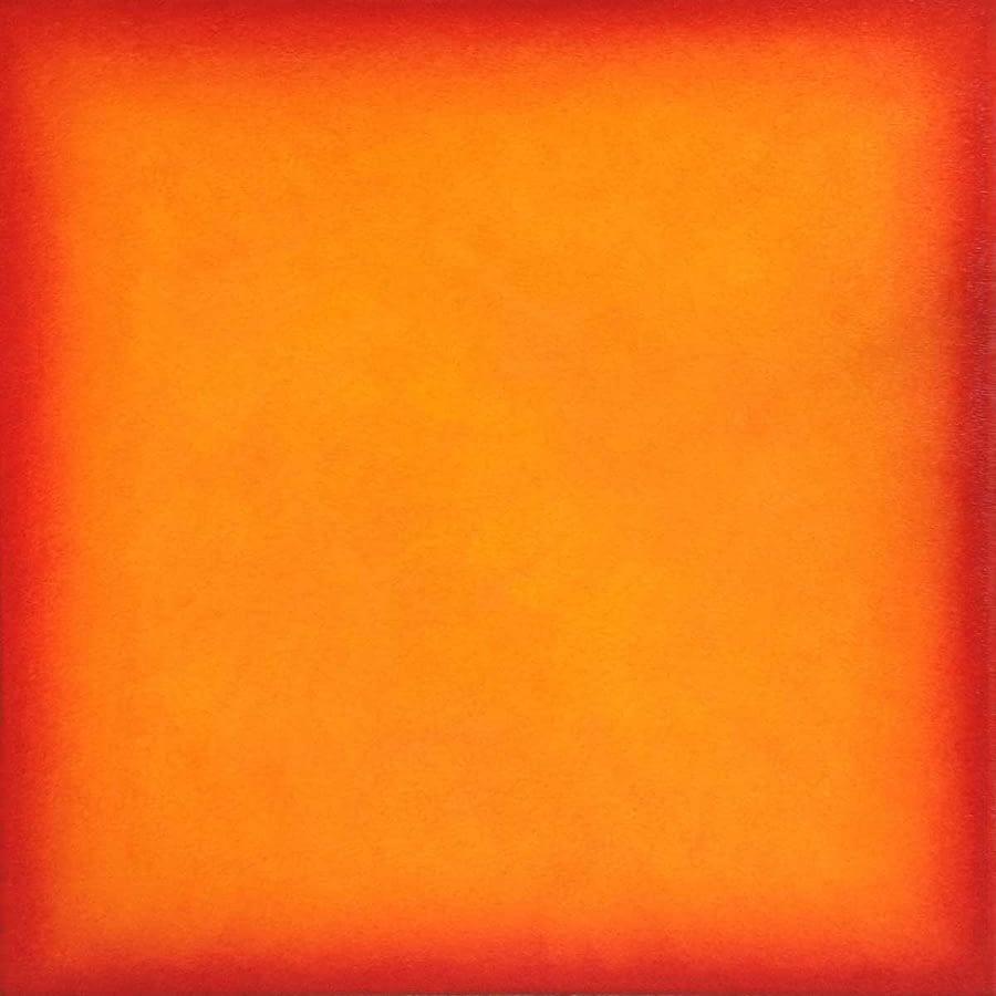 yellow orange over red
