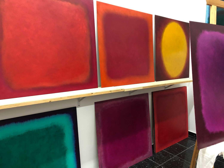 studio impression - drying art