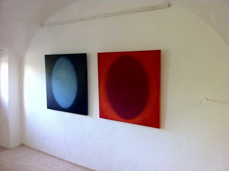 Stanko - blue magenta - oil on canvas - 100 x 100 cm - 2015