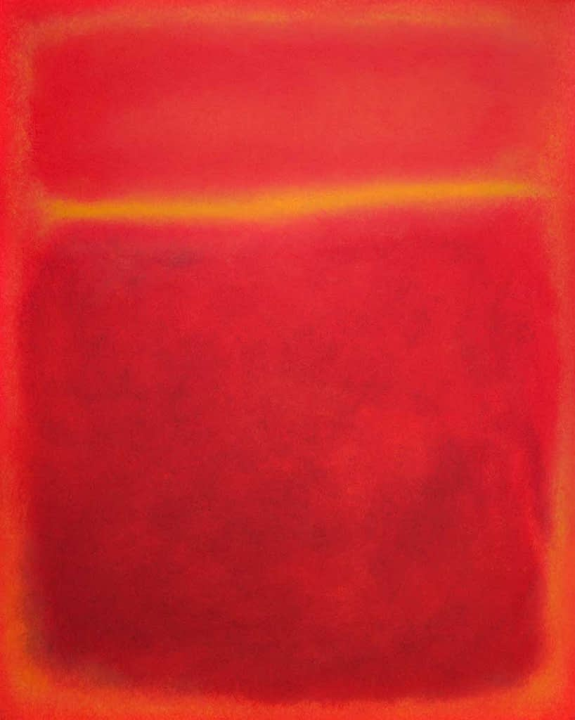 two forms - red, orange (rothko inspired)