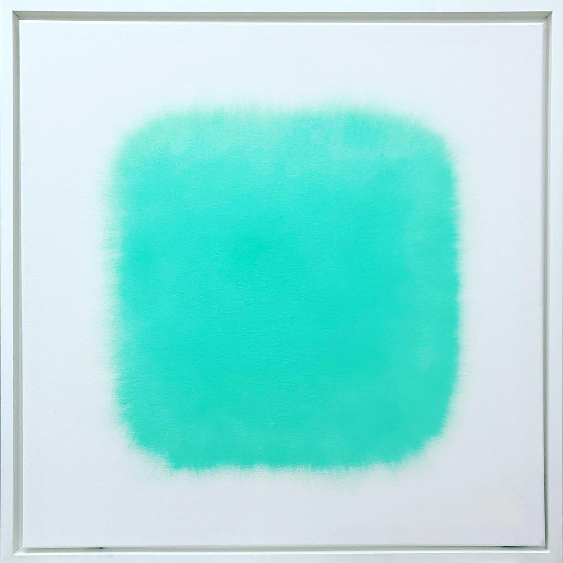 turqouise light | 2020 | oil on canvas | 80 x 80 cm (framed: 84 x 84 cm)