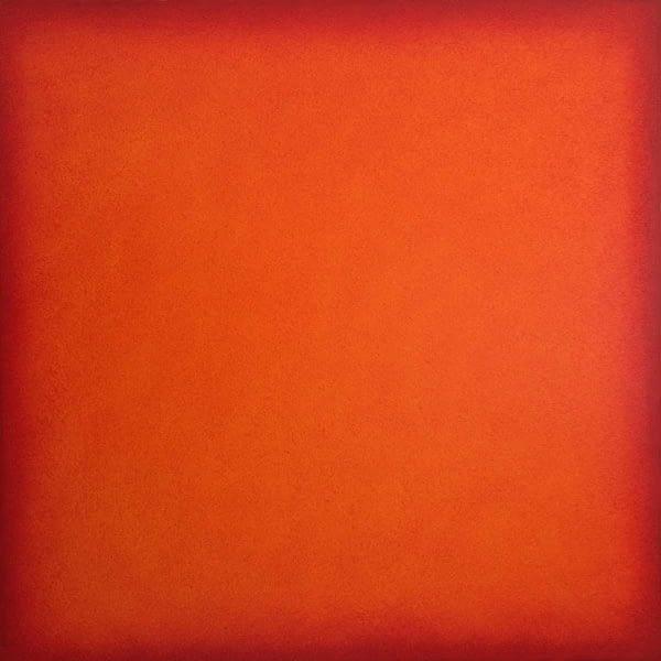 deep orange color field painting 2016