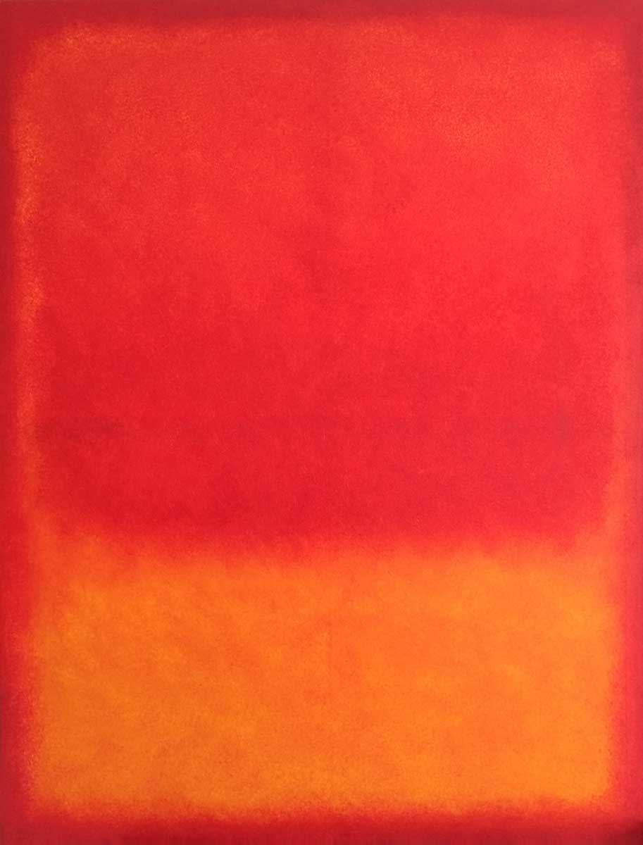 yellow orange and red   90x120cm   oil on canvas   2016