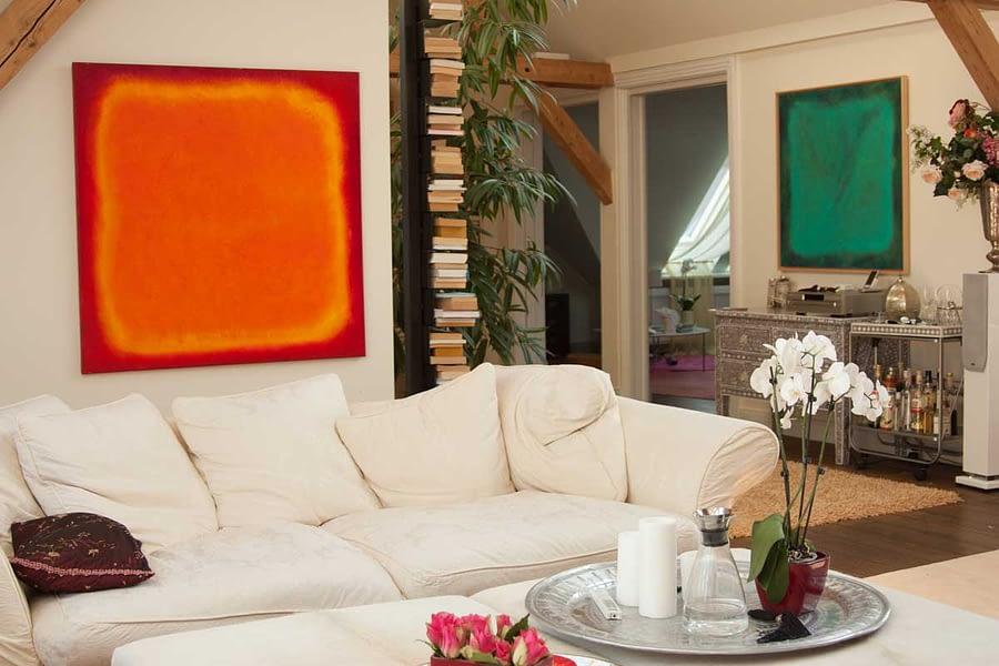 living-room-orange-red