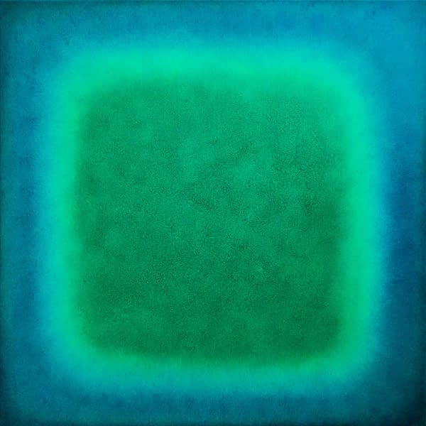 smaragd turqouise   2020   oil on canvas   80 x 80