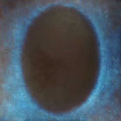 deep blue oval