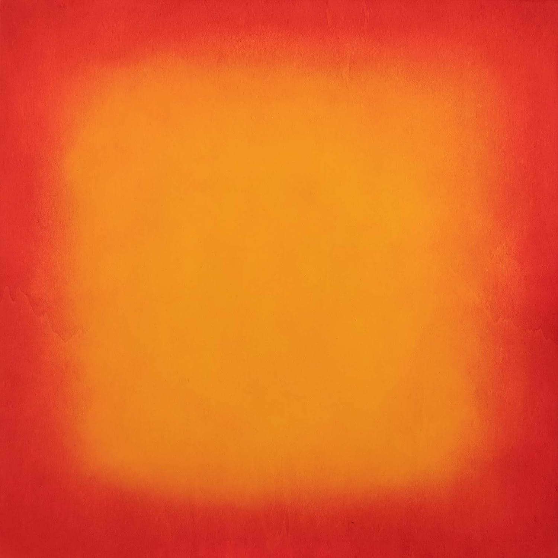 orange red on wood